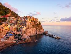 "Perched on the dramatic coast of Italy, just north of Pisa, there are five small hamlets, known collectively as ""The Cinque Terre""."