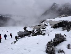 A US Airforce bomber crashed in the mountains of Alaska during a training mission. Today, adventurous hikers can make the climb to bomber glacier to see what remains of the fuselage.
